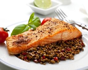 Filets de saumon aux lentilles
