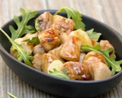 Wok de poulet à la sauce au miel