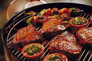Steaks de poisson grillés